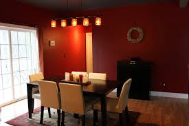 room paint red: dark red dining room paint colors completed by pendant lightings