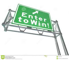 enter to win d words cash money stacks contest raffle lottery enter to win words green way sign royalty stock images