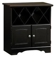 visions furniture lane furniture wine cabinet with bottle storage in black home storage amp organization closet bush office furniture amazon