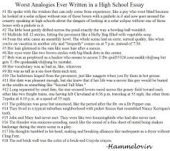 worst analogies high school essays  images for worst analogies high school essays