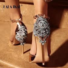 LALA IKAI Women <b>Crystal</b> Glitter <b>Sandals</b> Pump 2018 High <b>Heels</b> ...