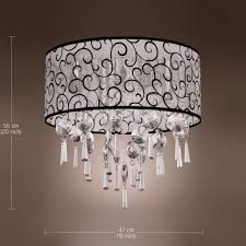 close to ceiling light elegant transparent crystal chandelier pendant light with lights cheap cheap ceiling lighting