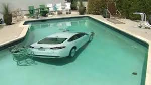 Image result for car in the pool