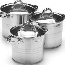 <b>Набор</b> посуды 6пр 5,3+6,8+8,6л <b>Mayer&Boch</b> (<b>27552</b>) по цене 4 ...