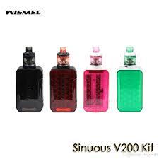 <b>WISMEC SINUOUS V200</b> Starter Kit With 3ml/2ml Amor NSE ...