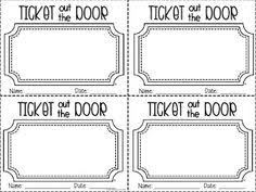 ideas about ticket template concert ticket  1st grade fantabulous a little bit of this and that ticket out the door