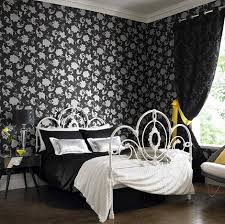 traditional fascinating house interiors traditional black and white bedroom with elegant balck abstrac style wallaper black antique style bedroom
