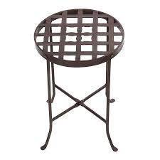 achla designs flowers 165 in roman bronze indooroutdoor round wrought iron plant stand achla designs wrought iron