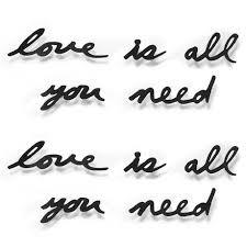 <b>Надпись декоративная</b> Umbra <b>love is</b> all you need — купить по ...