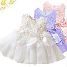 Buy <b>Kids Cotton Bow Lace</b> Ball Gown Casual Chiffon Princess Baby ...
