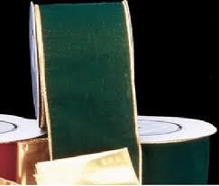 Gold Backed Hunter Green Velvet Wired Craft Ribbon ... - Amazon.com