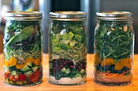 Image result for salads in a jar