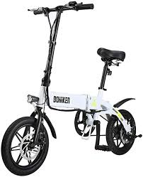 <b>Dohiker Folding Electric Bike</b> Collapsible Moped Bicycle With LED ...