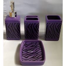 bathroom ceramic accessory set black