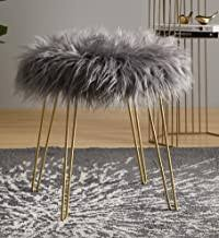 faux fur stool - Amazon.com