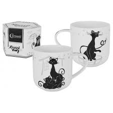 Фарфоровая <b>кружка Crazy Cats</b>. Кошка с котятами - Carmani 500 мл