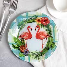 """<b>Тарелка</b> десертная 20 см """"Розовый <b>фламинго</b>"""" (3941257 ..."""