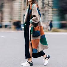 Fashion <b>Turndown Collar</b> Printed Long Sleeve coat – Besiefy