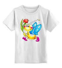 Детская <b>футболка классическая</b> унисекс <b>Printio</b> Бабочка с ...