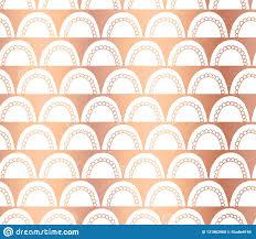 Copper Foil Doodle <b>Arcs</b> Vector Abstract Seamless Geometric ...
