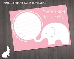 best images about printable birthday party invitations on the design is cute using elephant and a bubble in pink colour theme it perfect for birthday invitation template hopefully your