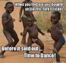 Meme Maker - When you find out you bought an Electric Forest ... via Relatably.com