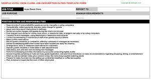 receptionist job descriptions 2 hotel desk clerk