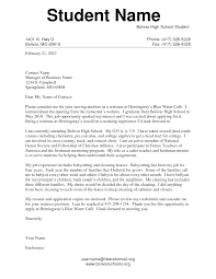 cover letter for high school template cover letter for high school