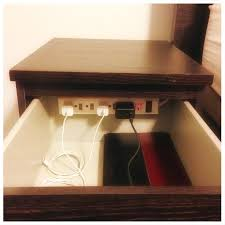 ideas bedside tables pinterest night: diy charging station in nightstand banish clutter organization