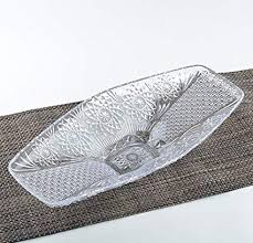 Fruit Platter Gondola <b>Design Elegant</b> Crystal-Cut Rectangular ...