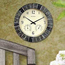 patio clocks decorative thermometer hanging decor wall