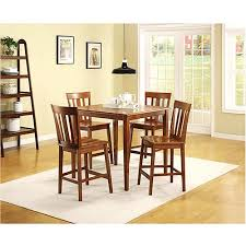 cherry counter height piece:  mainstays  piece counter height dining set warm cherry finish