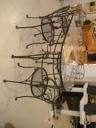 wrought iron dining chair home design