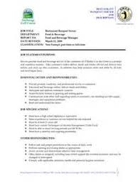 resume for food server catering server job description example job descriptions food server job description