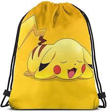 Classic Drawstring <b>Bag</b>-<b>Kawaii</b> Pikachu Gym <b>Backpack</b> Shoulder ...