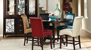 tall dining chairs counter: cindy crawford home highland park ebony  pc counter height dining room with blue stools