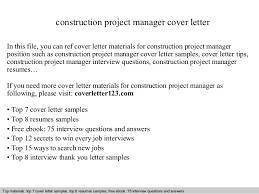 construction project manager cover letter in this file you can ref cover letter materials for construction manager cover letter