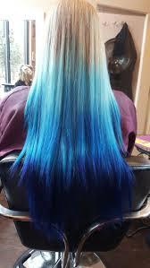 <b>Natural</b> blonde to <b>dark blue</b> ombré hair in 2019 | Dyed hair <b>blue</b> ...