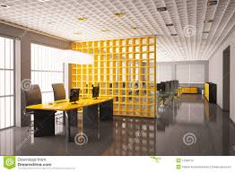 Modern Office Interior Render Royalty Free Stock Images N