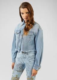 <b>Versace Jeans</b> Couture Heritage Gold <b>Metal</b> Tips <b>Denim</b> Jacket for ...
