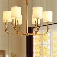 Dutti D0052 <b>LED</b> chandelier copper <b>antlers</b> for living room hall ...