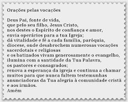 Image result for DOMINGO DA ORAÇÃO PARA AS VOCAÇÕES