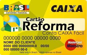 Resultado de imagem para governo lança cartão reforma