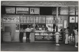 hard times oklahoma a russell lee photo essay this land press concession stand in streetcar terminal oklahoma city oklahoma 1939