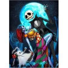 5D <b>Diamond</b> Painting Blue <b>Moon Skull</b> Couple Paint with <b>Diamonds</b> ...