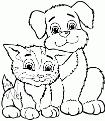 Small Picture Free Coloring Pages Kittens And Puppies Dog Color Pages Printable