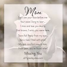 Birthday quotes for my deceased mom via Relatably.com