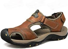 Summer <b>Men</b> Breathable <b>Leather</b> Sports Sandals <b>Outdoor Leisure</b> ...