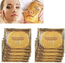 <b>10Pcs Gold Crystal</b> Collagen Crystal Face Mask, Anti ageing ...