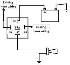i need to see the connection of installing the horn bosch fixya run a new wire from horn negative to an earthing point close to the horn or to battery negative and you re done